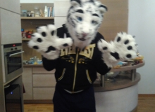 Felix Stripes fursuit