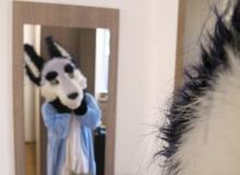 Zuzu and mirror